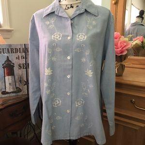 Classic Elements XL 18 Womens button up blouse